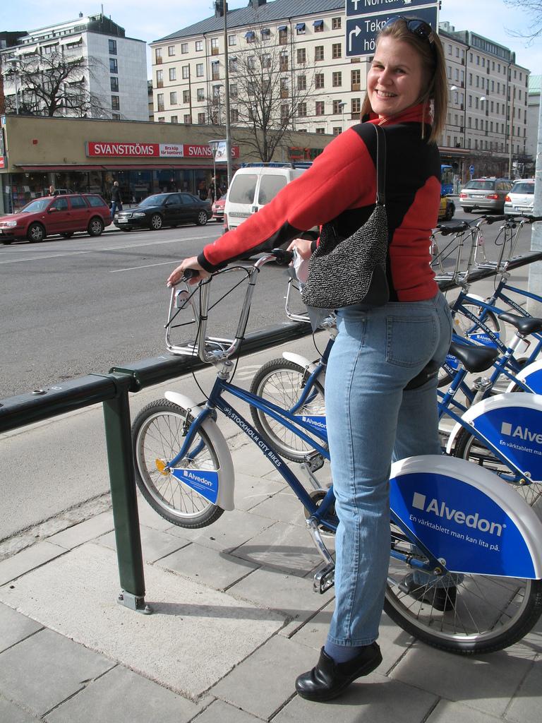 Swedish Girl on Bike