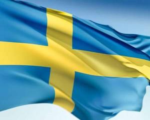 Swedish Flag Waving