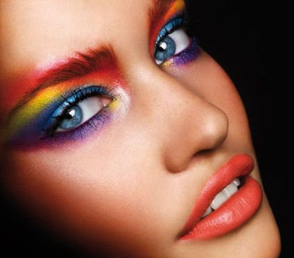 Multi Coloured Eye Makeup