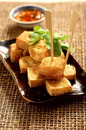 Salt and pepper fried tofu